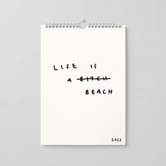"""Life is a Beach"" by Johanna Schwarzer Kalender 2022"