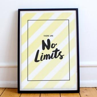 """Eigenwerk-Magazin Poster """"No Limits"""" DIN A3"""