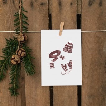 Weihnachtskarte A6 – Winter Outfit - Elliet