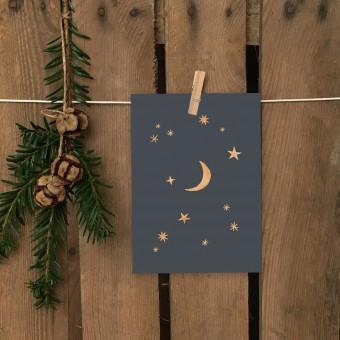 Weihnachtskarte A6 – Sternenhimmel - Elliet