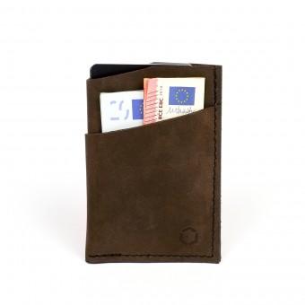 HOCH3 KURT Wallet | dunkelbraunes Leder