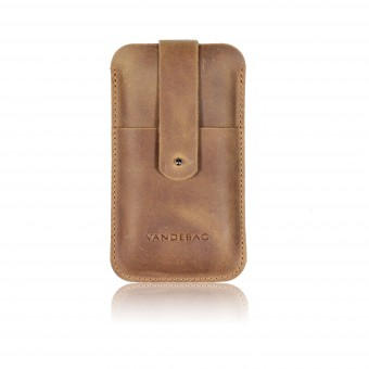 VANDEBAG - iPhone Case aus braunem Leder