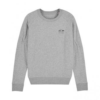 melike Frauen Sweatshirt heather grey ACH EGAL. eco+fair