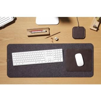"""Pack & Smooch Kingston - Schreibtischunterlage, Tastaturunterlage """"MOIRA"""" aus Wollfilz und Leder"""