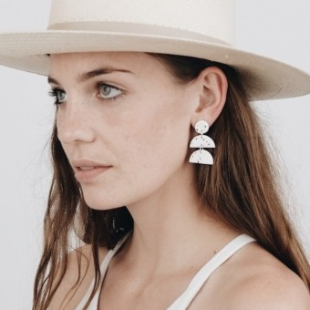 EVE + ADIS // FIO EARRINGS speckled