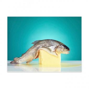 Kunststoff - Fischbeidiebudder Fine Art Poster (30x40cm)