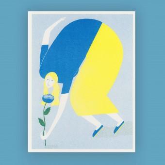 Anne Albert – Peony – Riso-Druck (17,8 x 23,1 cm)