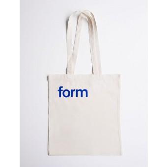 form Stofftasche blau