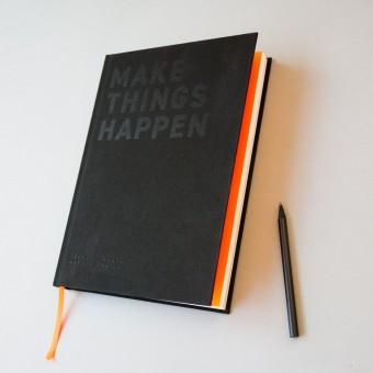 FOX&POET: MAKE THINGS HAPPEN Notizbuch / Planer