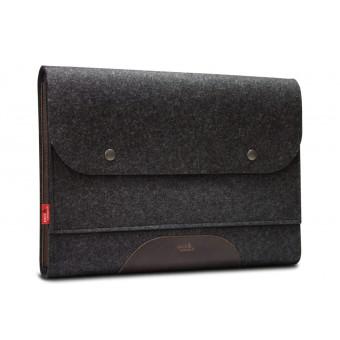 "iPad Pro, MacBook Pro Folio Case ""Corriedale"" 100% Merino Wollfilz, Pflanzlich gegerbtes Leder"