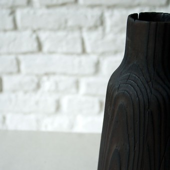 zita products - FREYA FLAMBÉE Holzvase