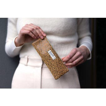frisch Mäppchen ART aus geprägtem Leder
