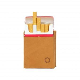HOCH3 HELMUT Zigarettenetui   hellbraunes Leder