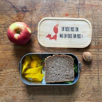 madeva Holzliebe nachhaltige Brotdose Ein Fuchs muss tun, was ein Fuchs tun muss