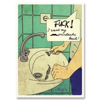 great-handmade *Moustache Postkarten Set