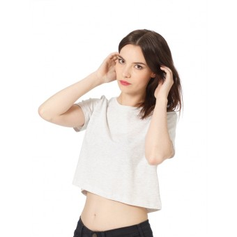 fabelwesen berlin FW.08 LIGHT GREY // cropped top