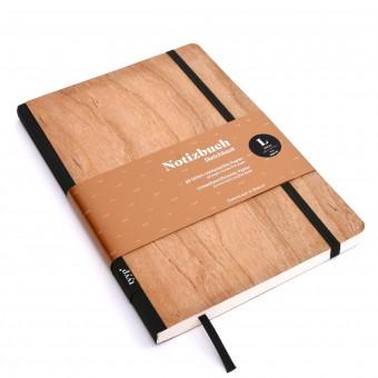 tyyp Notizbuch Echtholzfurnier Kirsche BerlinBook WOOD - DIN A5