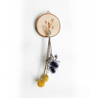 madeva Holzliebe Astscheibe mini gelbe Blume