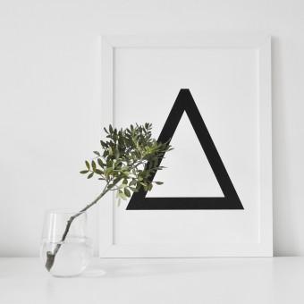 """na.hili Print """"Geometrical Letters"""" ABC ... A3 Poster"""