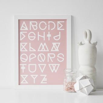 na.hili Print - Geometrical ABC - blush - A3 Poster