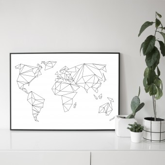 na.hili 70x50 POSTER Geometrical World ARTPRINT