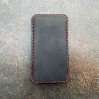 germanmade. iPhone 12 mini Lederhülle - vegetabil gegerbte Leder & natürlichem Wollfilz