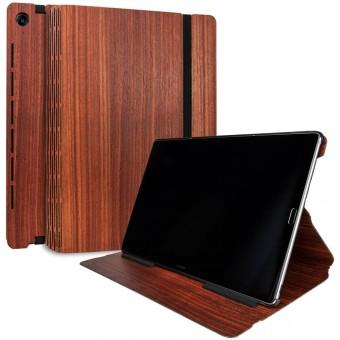 JUNGHOLZ Design WoodCase, Tabletcase, Padouk, Huawei MediaPad M5 Pro 10.8''