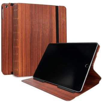 JUNGHOLZ Design WoodCase, Tabletcase, Padouk, iPad 5.& 6. Generation