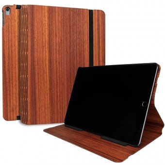 JUNGHOLZ Design WoodCase, Tabletcase, Padouk, iPad Air 10.5'' 3.Generation