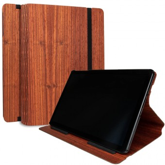 JUNGHOLZ Design WoodCase, Tabletcase, Padouk, Samsung Galaxy Tab S4