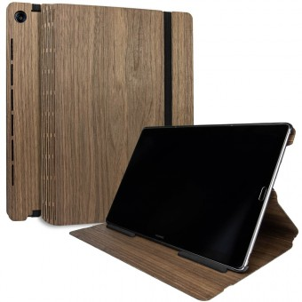 JUNGHOLZ Design WoodCase, Tabletcase, Walnuss, Huawei MediaPad M5 Pro 10.8''