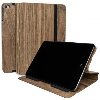 JUNGHOLZ Design WoodCase, Tabletcase, Walnuss, iPad Mini 5.Generation