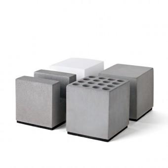 """Korn Produkte Geschenkset """"BLOCK"""" Büro aus Beton (vierteilig)"""