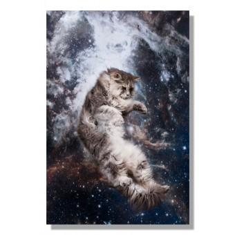 Kunstprint Poster Katzmonauten Gino Katze im Weltall 30x40cm cats in space