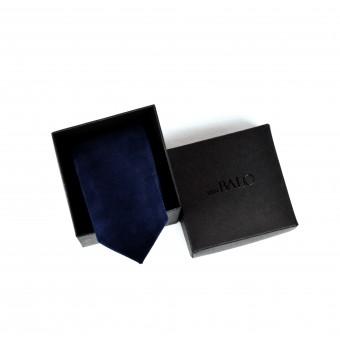 vanBALO Dunkelblaue Krawatte aus echtem Leder