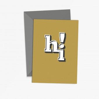 "sonst noch was? Grußkarte ""hi!"""