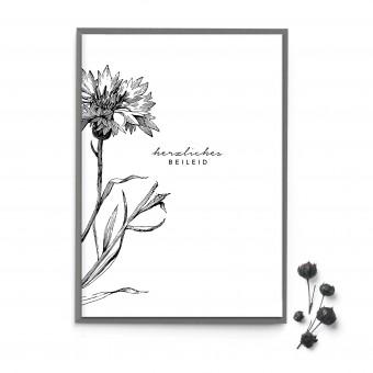 """sonst noch was? Moderne Trauerkarte """"Herzliches Beileid"""""""