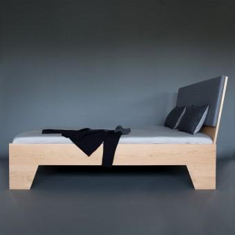 HABE Design Descanso Bett Eiche massiv (verschiedene Größen)