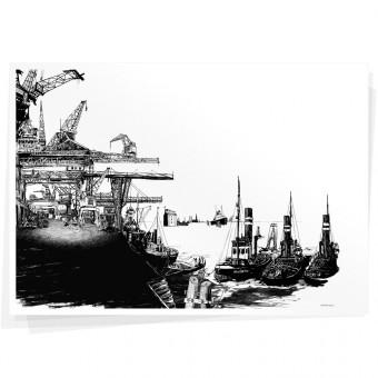 Wolfgang Philippi Hafen Plakat
