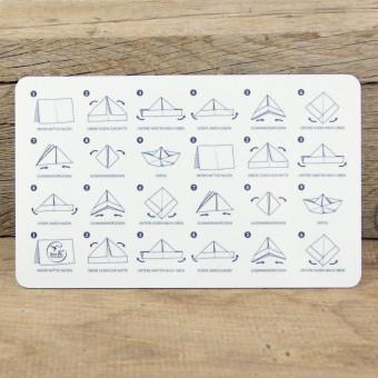 Bow & Hummingbird Frühstücksbrettchen Papierschiffchen