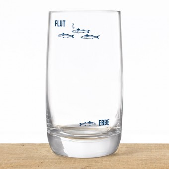 "Bow & Hummingbird Kristallglas ""Ebbe & Flut"""