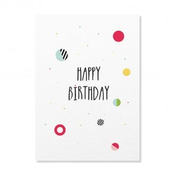"Edith schmuckes Papier ""Happy Birthday Konfetti"" Postkarte"