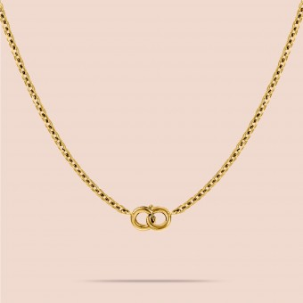 related by objects - happy anchor - Maskenkette - Messing 18k goldplattiert