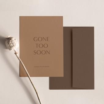 Too Soon | 3er Set Klappkarten inkl. Umschlag | heartfelt paper & co