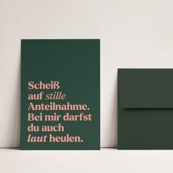 Stille Anteilnahme | 3er Set Klappkarten inkl. Umschlag | heartfelt paper & co
