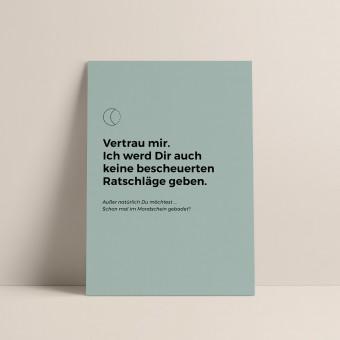 Mond | 3er Set Klappkarten inkl. Umschlag | heartfelt paper & co