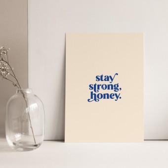 Stay Strong | 3er Set Klappkarten inkl. Umschlag | heartfelt paper & co