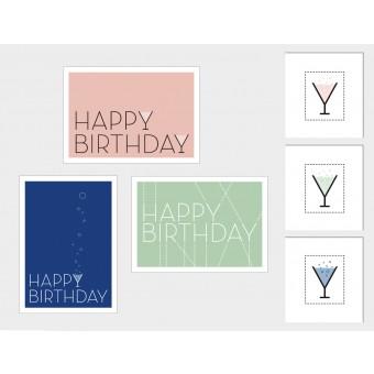 """3 Held&Lykke Geburtstagskarten """"SparkleMail"""""""