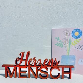 NOGALLERY Herzens Mensch - Deko Schriftzug Holz