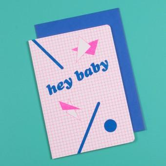 polypodium / hey baby - Grußkarte - Risodruck